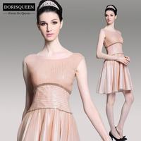 Dorisqueen 2014 New Luxury Sequin A-line short prom dresses elegant evening party dresses Carmine homecoming dresses 6082