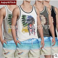 new 2015 summer Cotton Tanks Tops Men Sleeveless Vest Shirts t shirt Sports Casual Sweatshirts Leisur Mens Jogger Muscle Vest