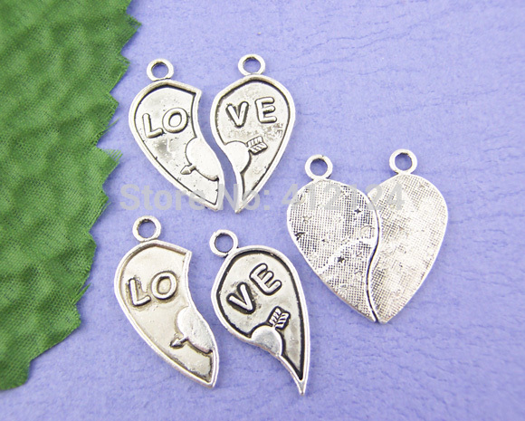 300 Pcs Free Shipping Wholesale Pendants Hot New DIY Cupid LO VE Charms Fashion Jewelry Making