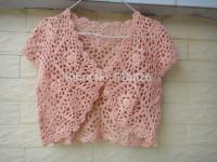 Crop Top Crochet Shrug Wedding Bolero Jacket Floral Lace Cardigan Summer Beach Cover up