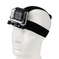 Gopro Accessories Black Elastic Adjustable Gopro Head Strap Mount Harness Holder For Go Pro HD Hero 2 3 Camera Black Edition