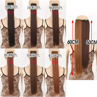 """Beautiful Image """" 60cm 24inch 2014 Promotion Real Freeshipping Clip-in Straight Synthetic Clip In Hair Extensions Hex1017"""