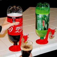 Innovative Refrigerator Fizz Saver 2-Liter Soda Push Style Dispenser with Mini Tap Household Item