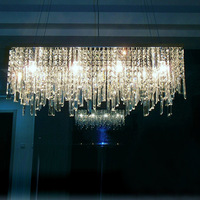 Free shipping modern dining room chandelier lamp luxury k9 crystal chandelier