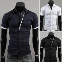2014 new fashionable short sleeve shirt Men's leisure euramerican style  M,L,XL,XXL