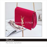 new 2014 famous brand handbag women messenger bags girls YS luxury evening bag women wallets bolsas  purse metal chain tassel