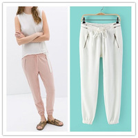 Free shipping !  2014  girls Spring Summer Elastic Waist Candy Colors Casual Trousers Womens   Ladies Autumn Pants