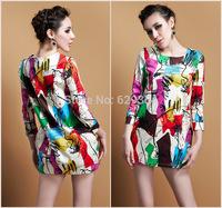2014 New Womens Sexy Fashion Summer Dress Long Sleeve Lantern skirts Hot Sale