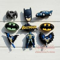 45Pcs Bat Man PVC Shoe Charms For Silicone Wristbands & shoes with holes,Mixed 9 Models,Shoe Decoration/Shoe Accessories