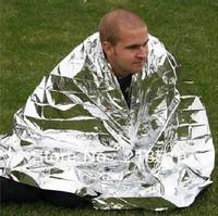 Compact Lightweight Aluminized Windproof Waterproof Emergency Blanket Body Wrap Survival Sheet for Outdoor 210 x 160cm