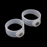 Slimming and Healthy Silicon Magnetic Toe Rings (Pair)