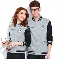 Hot !!2014 Brand Cotton Leisure clothing set survetement women men sportswear fashion track suit Open Hoodies (Pants+Clothes)