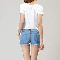 Free shipping pockets shorts summer women's denim shorts women jeans shorts ladies' denim Hot pants