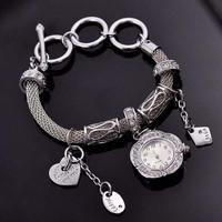 Vintage Women Bangle Watches Famous Brand GENEVA Crystals Bracelet Wrist watch Vogue Women Quartz Timepiece European Reloj NW116