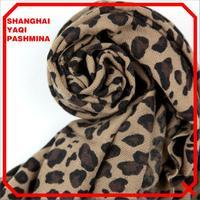 Free Shipping for Min Order $39 Australia Mercerizing Wool Thickening Leopard Print Women Scarf  Pashmina
