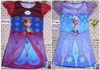 In stock 2014 frozen sleepwear,rapunzel frozen elsa nightgown for girls kids pajamas children clothes princess nightgown kids 06