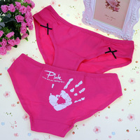 Free shipping 3pcs/lot  sext briefs Nice underwear women cotton blend young lady sexy underwear  women's panties