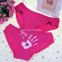 Free shipping 3pcs/lot  sext briefs Nice underwear women cotton blend young lady sexy underwear  women's panties