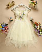 New 2014 Appliques Sweetheart Bridesmaid Dress Lace Floral Beading Princess Dress Luxury Organza Bridesmaid Dress