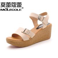 2014 platform women's single shoes bohemia open toe wedges female sandals