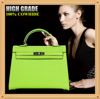 2014 Fashion Brand Design Handbag,Top Quality Green Genuine Leather Women Bolsa De Ombro,100% Cowhide Shoulder Bag,Totes B109