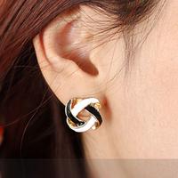 (1 Pair) Simple Wild Korean Ear Jewelry Earrings Wound Ball Of Yarn