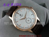 Fashion Ultrathin Mens Sapphire Clock Top Brand Luxury Men Genuine Leather Strap Rose Gold Automatic Mechanical Watches VYC031
