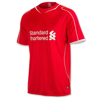 hot 2014/15 Liverpool home red soccer football jerseys, top 3A+++ thailand quality soccer uniforms shirt free shipping
