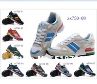 Free shipping 2014 men's brand athletic shoes fashion zx750 shoes trend 750 suede running shoes top quality wholesale 40-45