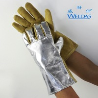 Heat Resistant Welding Gloves Reflective Aluminum Foil High Temperature Resistant Work Gloves