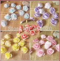 100Pcs/Bag 5 colors 4-5Cm Foam Rose Flower Handmade DIY Wedding Home Decoration Artificial Flower PE Rose Flower