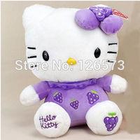 20cm purple grape hello kitty plush hello kitty birthday present soft toy kids toy girlfriend's gift one piece free shipping