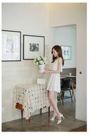 European women's summer 2014 new small sweet wind false two-piece Japanese splicing chiffon dress