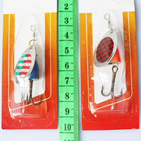 metal lure Lot 30pcs Kinds of spinner spoon fishing lures baits pike salmon bass SN01