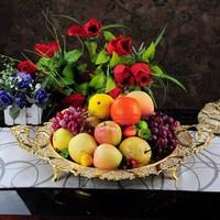 2pcs/lot Large circle 54cm fruit plate ktv pallet fashion metal gold plated jacquard compotier