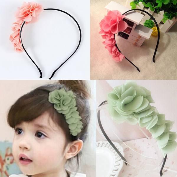 1pcs 2014 projeto bebê meninas crianças crianças lactentes flor headband