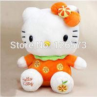 20cm orange hello kitty plush hello kitty birthday present soft toy kids toy girlfriend's gift one piece free shipping