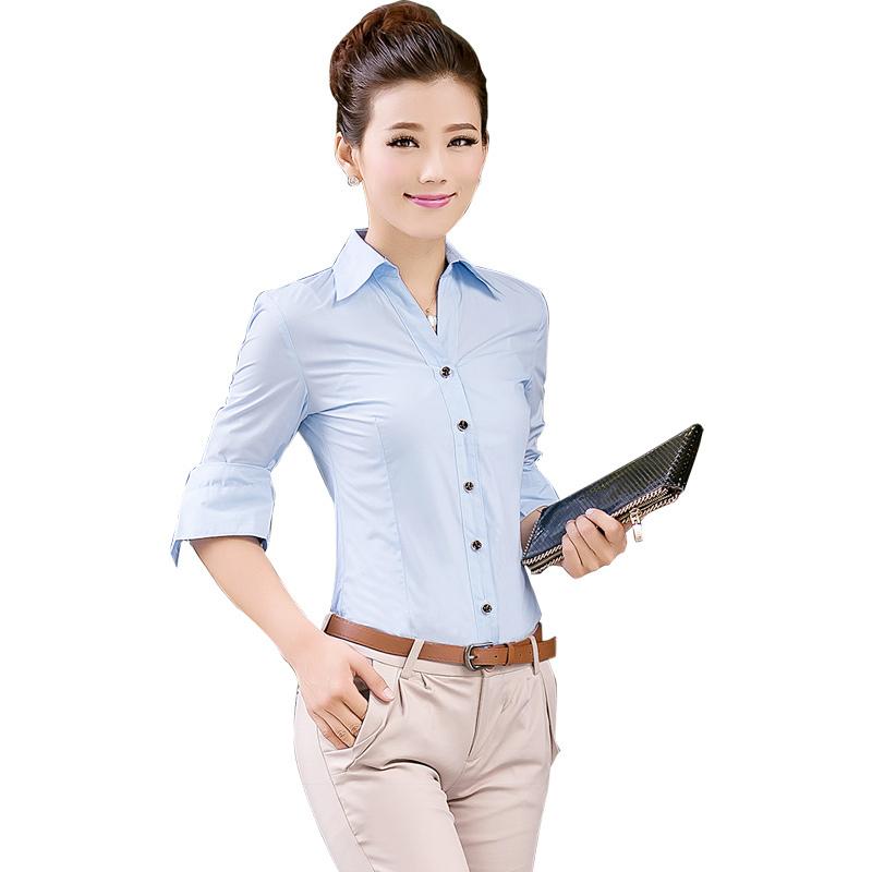 Popular  Buy 2015 Work Wear Dress Women39s Workwear Suit Formal Stripe Shirt