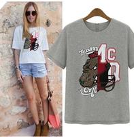 2014 New Fashion Summer Loose Top Print Short-sleeve T-shirt