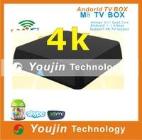 NEW! XBMC Amlogic S802 quad core android smart tv box 4.4 kitkat smart tv box M8