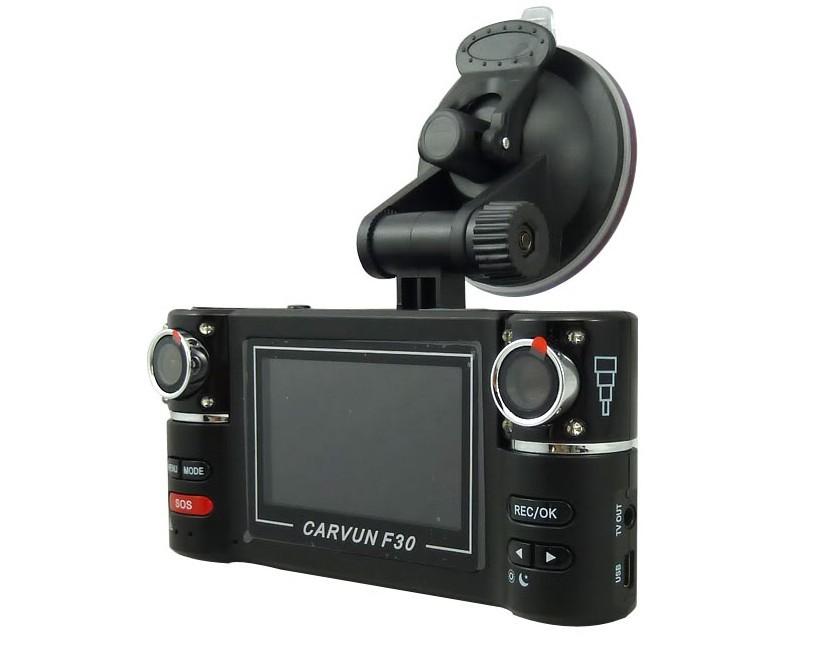 F30 2.7 inch HD Dual portable Camera Car DVR with Night Vision GPS Tracker DVR Free Shipping(China (Mainland))