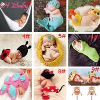 Crochet Baby Hammock Photography Props Infant Toddler Crochet Costume Newborn Photo Props 0-3Months 1set MZS-14028