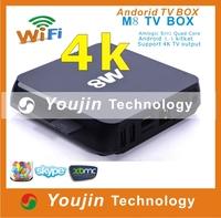 Factory exporter android 4.4 quad core amlogic 8726 m8 tv box