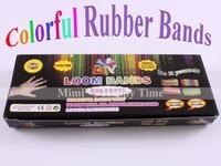 2pcs Hot selling Loom Bands set Fun Loom Rubber Kit DIY Bracelets Colorful Children Toy Gift For Charm Bracelet Bangle