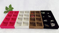11*22*3cm High Quality Velvet 8 Grids Tray Jewelry Display Box Jewelry Display Tray ,FREE SHIPPING