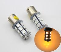4pcs Bau15s 18 SMD LED Car Front Rear Turn Signal Bulb Amber 12V DC