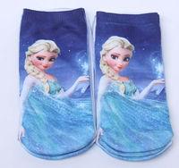 4PCS/ LOT 2014 New Frozen Elsa Anna's Socks & Hosiery Free shipping