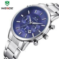 New fashion WEIDE brand watches 30m waterproof calendar date hours analog Japan Miyato movement casual men quartz watch