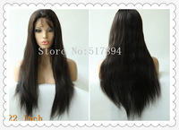 """120%Density!VariousShipment!Brazilian Human Hair Front Lace With Stretch Lace Back#2 10""""12""""16""""18""""20""""22""""Silk Straight E18"""