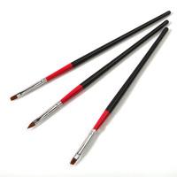3pcs/set UV gel & acrylic nail art painting drawing brush pen, nail design toll sets, free shipping, 50sets